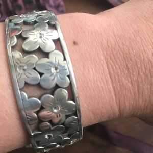 Brighton Floral Bangle with Crystals